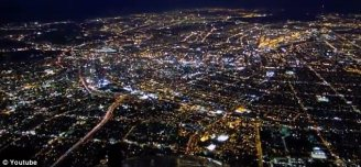 night view from the sky
